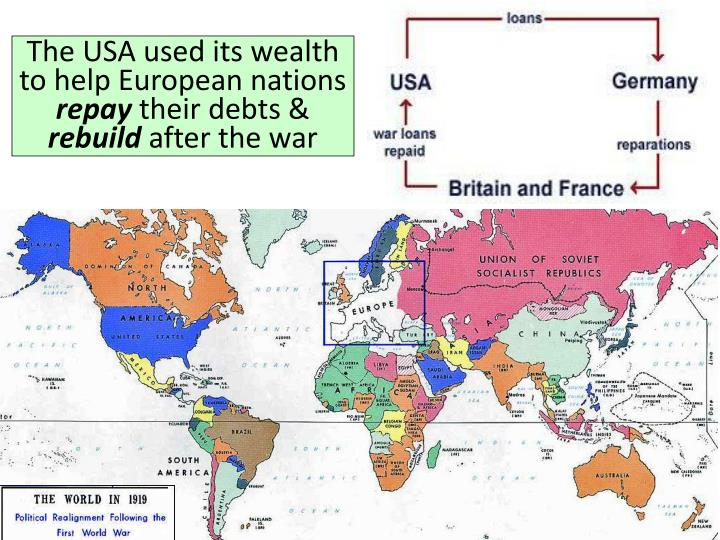 The USA used its wealth to help European nations