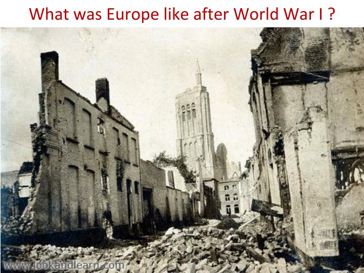 What was europe like after world war i