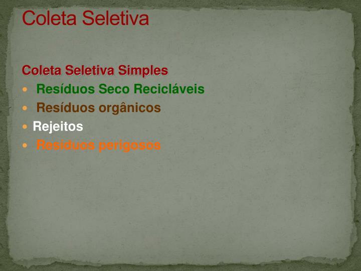 Coleta Seletiva
