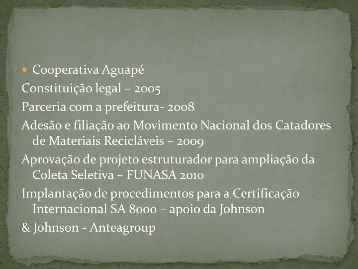 Cooperativa Aguapé