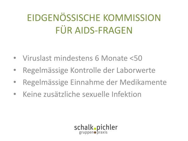 EIDGENÖSSISCHE KOMMISSION  FÜR AIDS-FRAGEN
