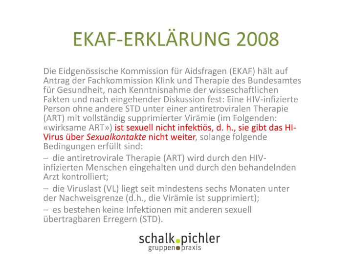 EKAF-ERKLÄRUNG 2008