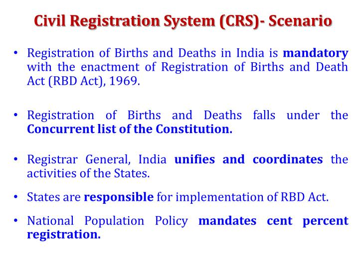 Civil Registration