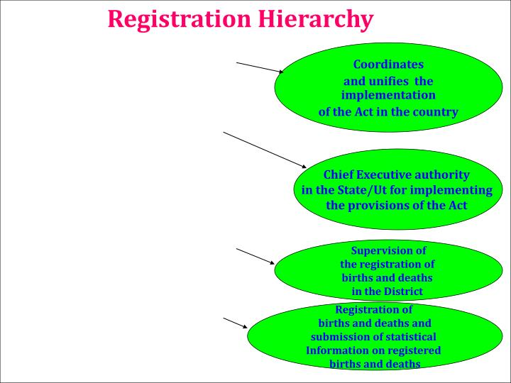 Registration Hierarchy