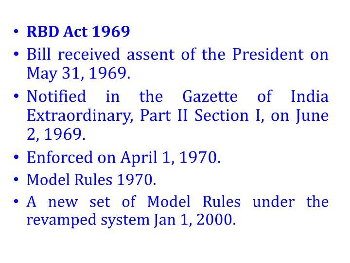 RBD Act 1969