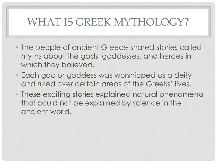 What is greek mythology