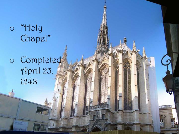 """Holy Chapel"""