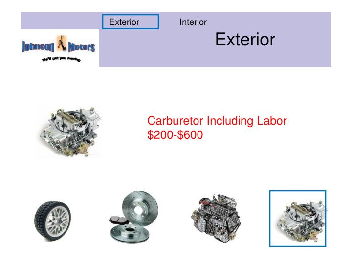 Carburetor Including Labor