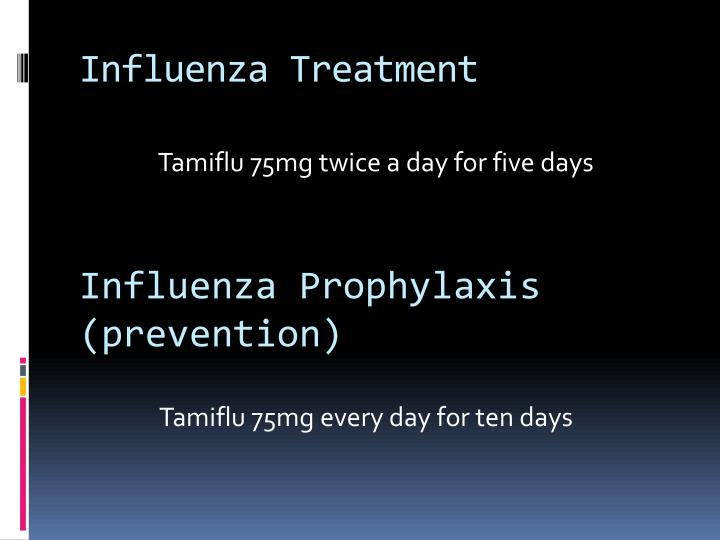 Influenza Treatment
