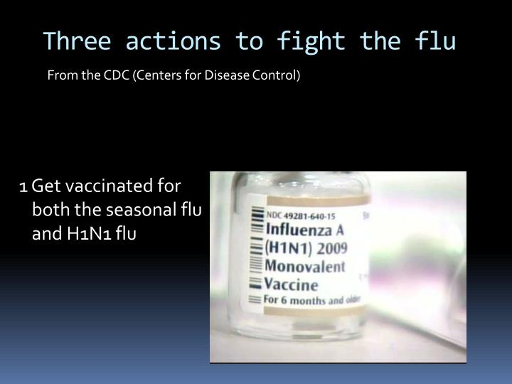 Three actions to fight the flu