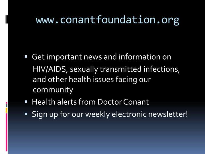 www.conantfoundation.org