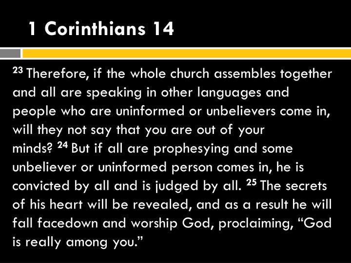 1 Corinthians 14