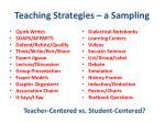 teaching strategies a sampling