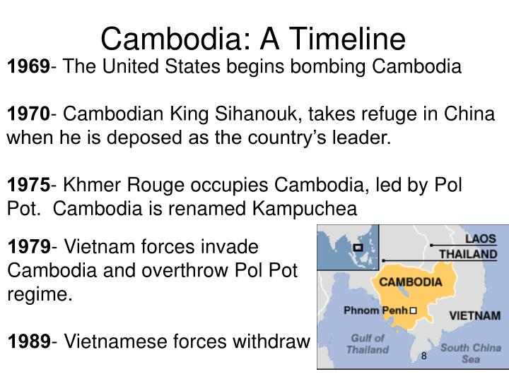 Cambodia: A Timeline