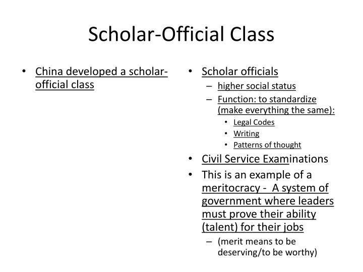 Scholar-Official Class