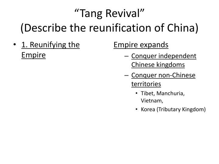 """""""Tang Revival"""""""