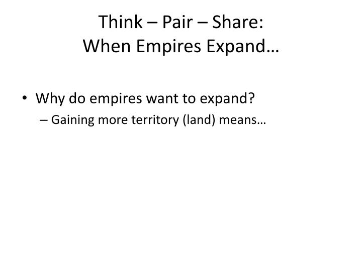 Think – Pair – Share: