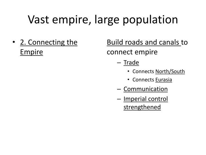 Vast empire, large population