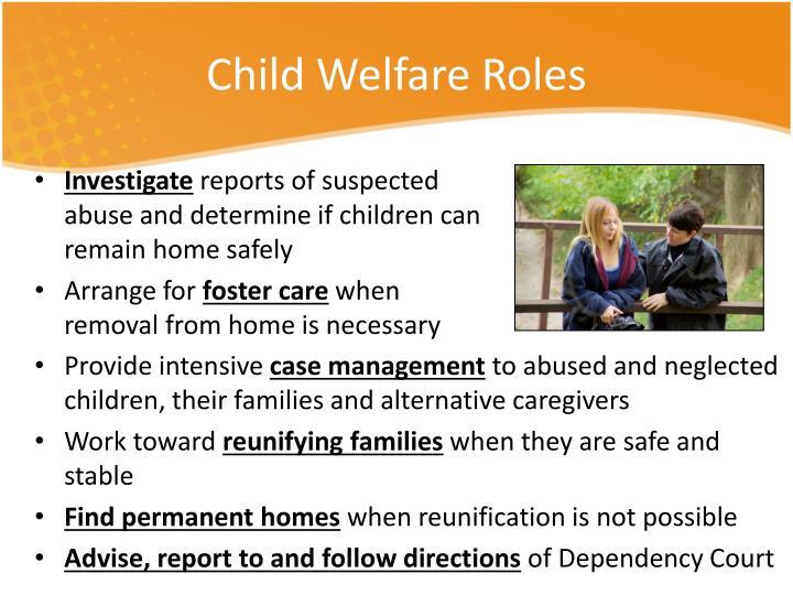 Child Welfare Roles