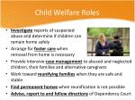 child welfare roles