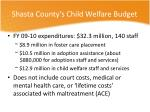 shasta county s child welfare budget