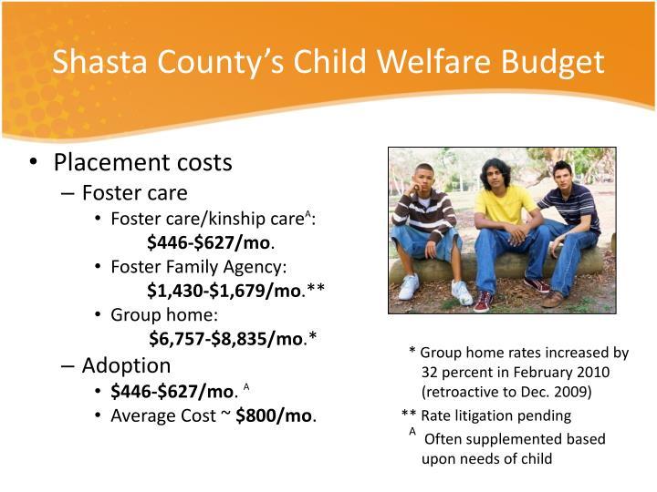 Shasta County's Child Welfare Budget