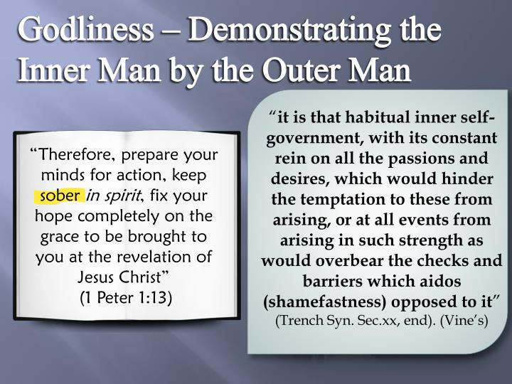 Godliness – Demonstrating the Inner Man by the Outer Man