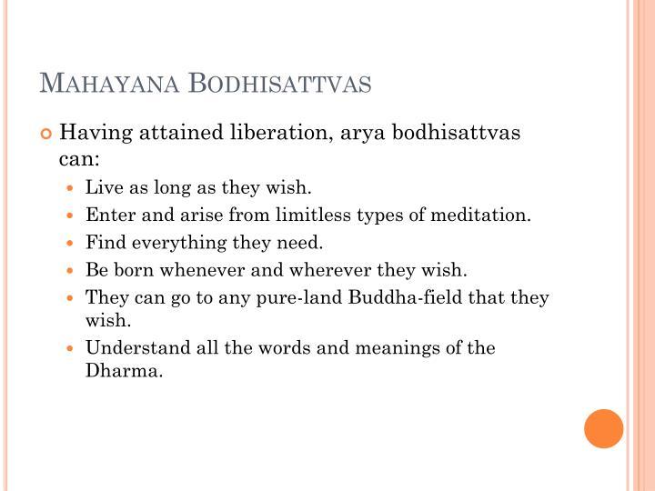Mahayana Bodhisattvas