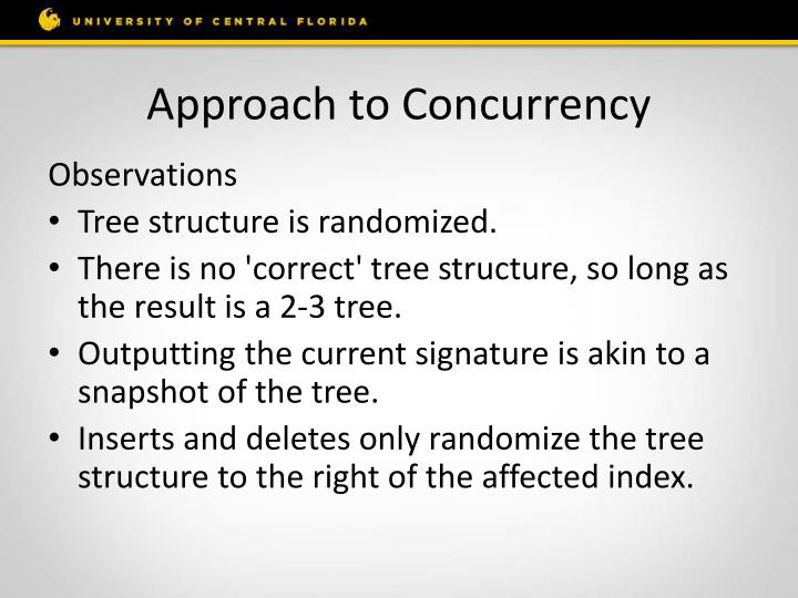 Approach to Concurrency