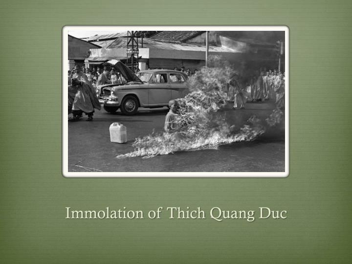 Immolation of