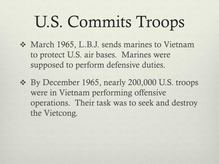 U.S. Commits Troops