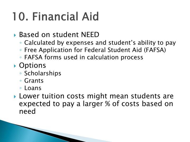 10. Financial Aid