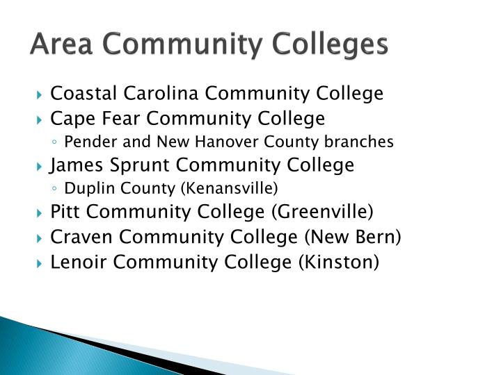 Area Community Colleges