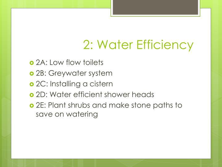 2: Water Efficiency