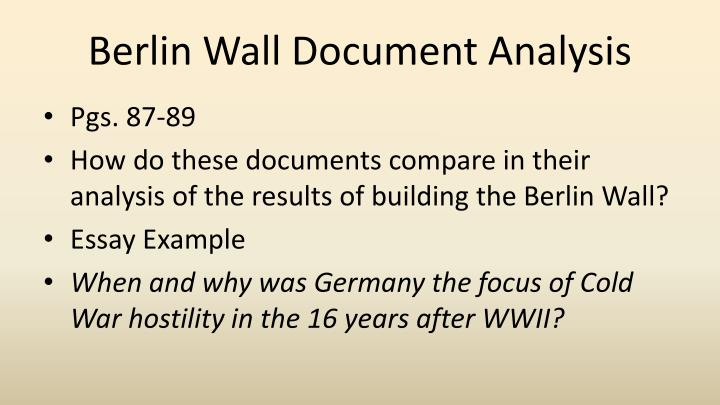 Berlin Wall Document Analysis