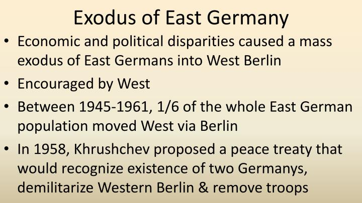 Exodus of East Germany