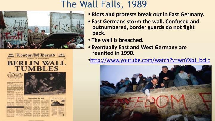 The Wall Falls, 1989