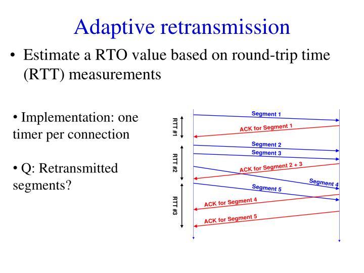 Adaptive retransmission