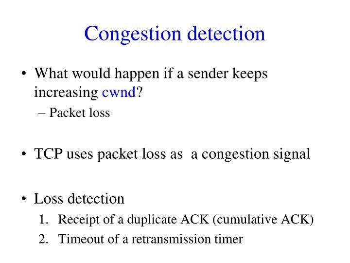 Congestion detection