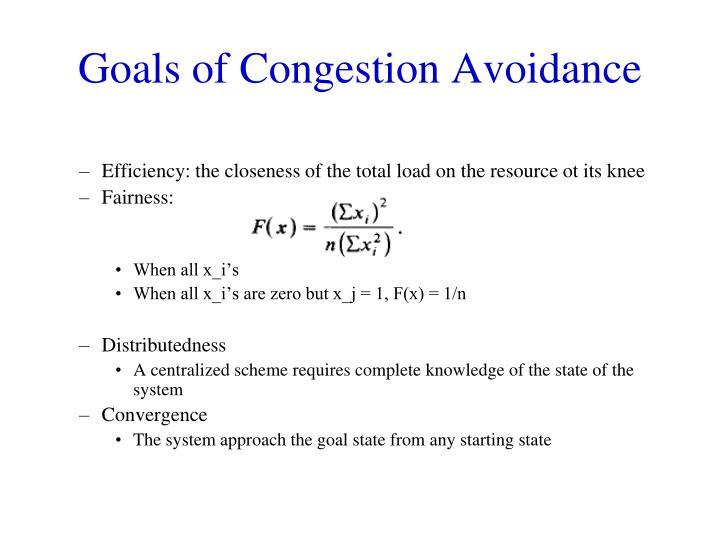 Goals of Congestion Avoidance