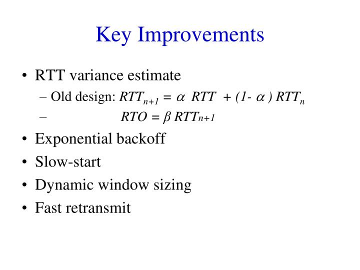 Key Improvements