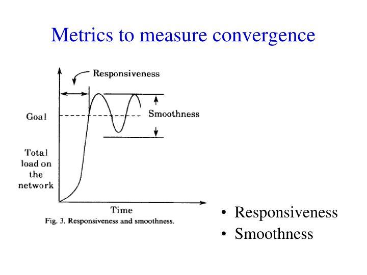 Metrics to measure convergence