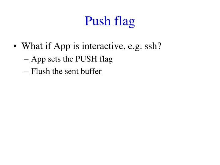 Push flag
