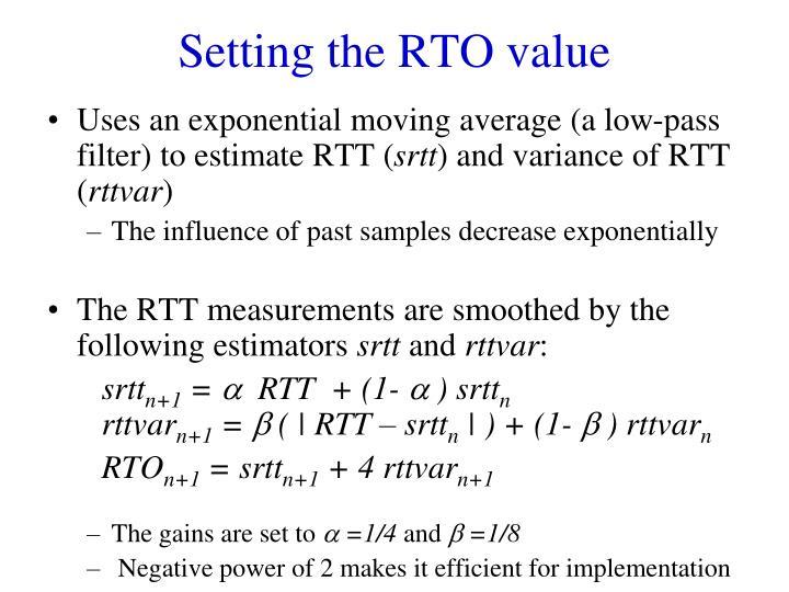 Setting the RTO value