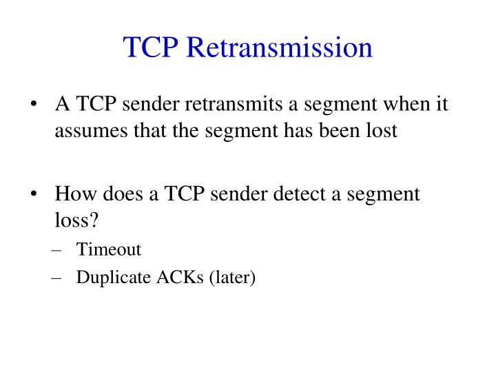 TCP Retransmission