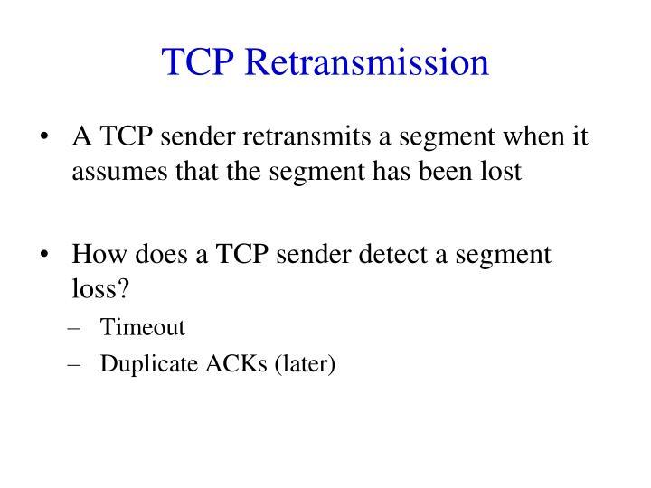 TCP Retransmission