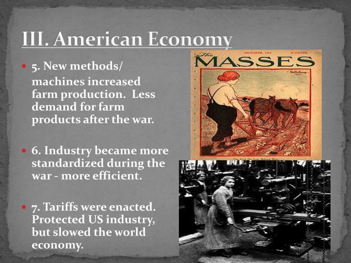III. American Economy