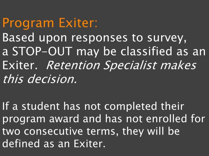 Program Exiter: