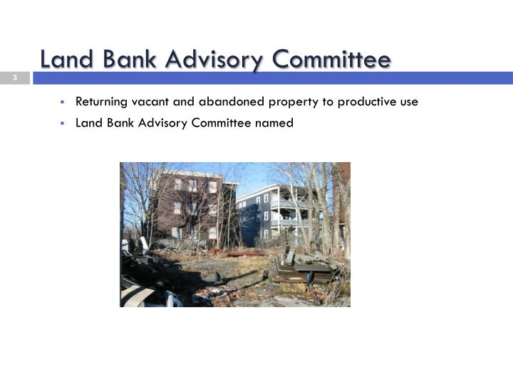 Land bank advisory committee