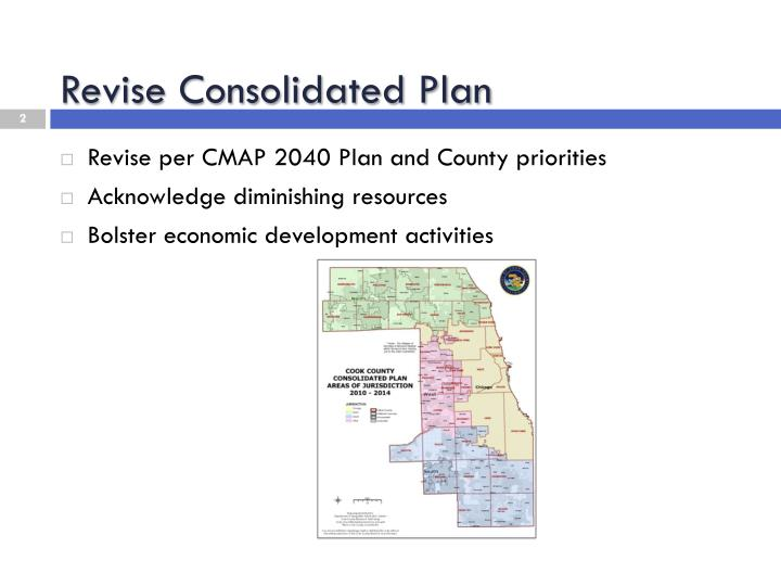 Revise consolidated plan